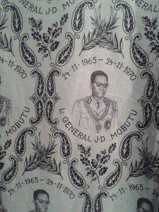Tissu réalisé dans les années soixante, en hommage à un grand démocrate, par les manufactures de Dàckelebourg